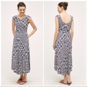 Anthropologie Maeve Mallorca Maxi Dress, Blue